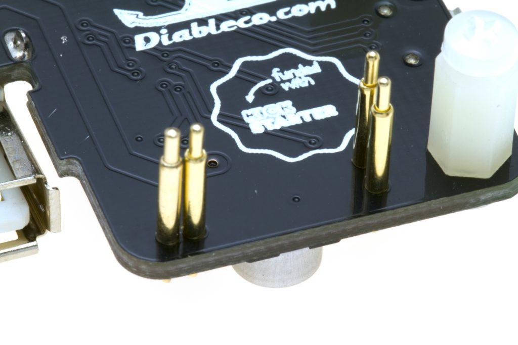 Detalle al conector del USB SHOE v1.2