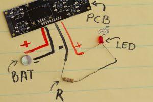Elementos básicos para encender un LED