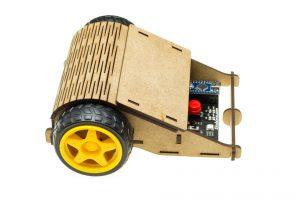 Vista lateral del robot Caparrucia